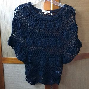 YA LOS ANGELES BLACK SWEATER TOP SIZE S